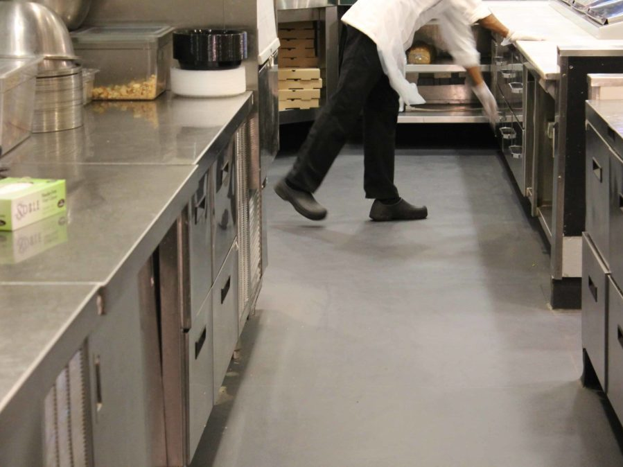 Commercial Kitchen Flooring in Restaurant